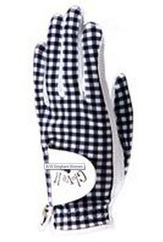 Black/White Gingham Women's Golf Glove