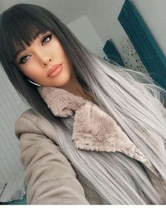 40 Pics of Grey Ombre Hair 2018 – 2019 New Ombre Hair Color, Pretty Hairstyles, Straight Hairstyles, Bob Hairstyles, Amazing Hairstyles, Style Hairstyle, Grey Ombre Hair, Ponytail Wig, Hollywood Hair, Pinterest Hair