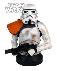 Star Wars: Sandtrooper Squad Deluxe Mini-Bust by Gentle Giant. $69.99. The sandtrooper is a desert terrain stormtrooper equipped with modified armor and gear to better withstand missions in harsh, arid locales like Tatooine. While their armor is superficially similar to that of the standard stormtrooper, advanced cooling systems in both their helmets and suits offer these troopers protection from the relentless heat.White Pauldron denotes rank of Sergeant - Sand...