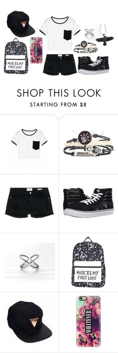 """""""Day Out"""" by beckemmeline ❤ liked on Polyvore featuring Frame Denim, Vans, Arabel Lebrusan and Casetify"""