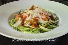 BUENOS RATOS LOLA: Ensalada de espaguetis de calabacín.