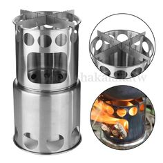 Outdoor Portable Hiking Wood BBQ Stove Cooking Picnic Burning Camping Burner in Sporting Goods, Camping, Hiking, Camping Cooking Supplies   eBay!
