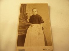 Pair of CDV photographs  - Victorian Servant or Housekeeper
