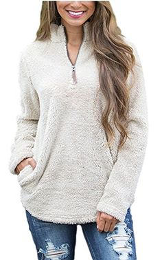 Image result for fuzzy pullover jacket -  Fuzzy shopping is alive and well on Pinterest. Compare prices for this @ Wrhel.com before you commit to buy. #Wrhel #Fashion #Fuzzy