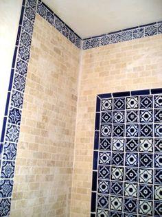 Mexican Talavera tile bathroom | by latin accents