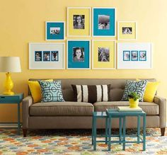Living Room Yellow Beige - 30 Awesome Yellow Living Room Color Schemes That People Never Seen. Living Room Color Schemes, Living Room Designs, Living Room Decor, Yellow Walls Living Room, Blue Bedroom, Yellow Rooms, Pale Yellow Walls, Mellow Yellow, Blue Yellow