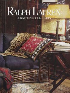 Ralph Lauren Home Vintage Room Advertisement - Rattan Sofa (pre-dates Canyon Sofa) www.simonshouse.net