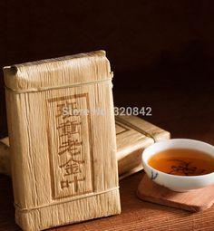 2008 year Yunnan Pu'er tea pu erh tea puer leaves old glutinous rice cooked fragrant puer tea brick Menghai vintage gold leaf