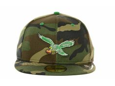 Philadelphia Eagles NFL Camo Pop 59FIFTY Cap Hats 5dad991469ea1