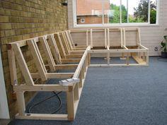 garden seating Outdoor couch, Garden f - gardencare Deck Bench Seating, Backyard Seating, Outdoor Seating, Backyard Patio, Deck Storage Bench, Wood Patio, Diy Garden Seating, Ikea Patio, Garden Seats