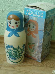 Soviet Matryoshka thermos Unused vintage by Design360Degrees
