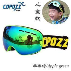 COPOZZ Kids Ski Goggles Double UV400 anti-fog mask glasses skiing Girls Boys Snowboard goggles Brand GOG-243