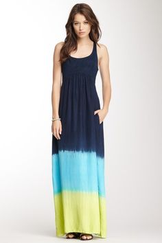 Dip Dye Charmeuse Silk Lower Dress by Charlotte Tarantola on @HauteLook