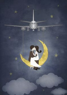 Fly Me to The Moon 2 Art Print