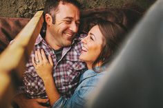 Camping engagement photos! Also, this couple is so cute, they make me lovesick.