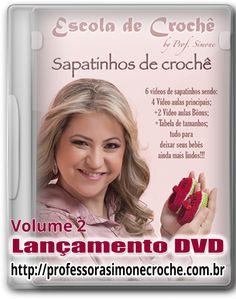 Lançamento do DVD de Sapatinhos de crochê. Para adquirir o DVD entre no site:  http://www.professorasimonecroche.com.br/dvd-sapatinhos-em-croche