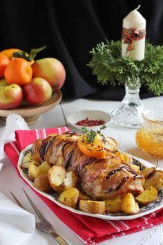 Juditka konyhája: ~ NARANCSOS SÜLT KARAJ ~ Bacon, Turkey, Plates, Chicken, Meat, Kitchen, Food, Gastronomia, Tips