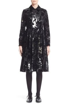 noir kei ninomiya Flocked Faux Leather Coat available at #Nordstrom