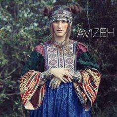 Afghan dress - moradozi (beads embroidery)