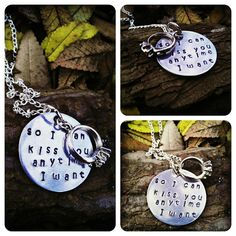 So I can kiss you anytime I want by CharmletteDesigns on Etsy, $24.00