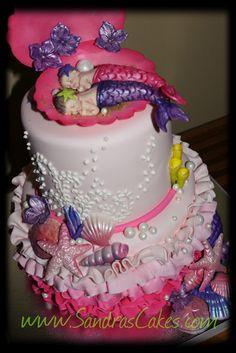 Ocean themed Baby Shower Cake