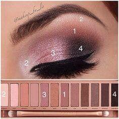 Naked 3 palette eye make up steps