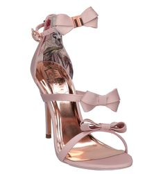Ted Baker Nuscala Ted Baker Heels, Ted Baker Bag, Baker Shoes, Sock Shoes, Cute Shoes, Me Too Shoes, Princess Shoes, Bow Heels, Slipper Sandals