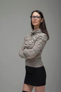 AQUA 02 - Long Sleeves Sweater -  Handknit Unique Customizable #bestofEtsy #customorder
