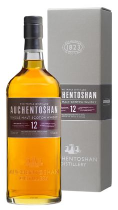 Auchentoshan 12 Year Old Lowland Single Malt Scotch Whiskey