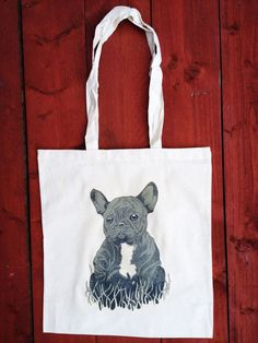 French Bulldog Tote Dog Bag Grocery bag Reusable Bag Funny Tote Gift For Dog Lover French Bulldog Gift Puppy Tote Bag Puppy Bulldog (5.00 GBP) by SloClo
