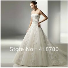 free shipping 2013 NEW The wedding dress wedding bride wedding special Princess lace bra trailing Flowers lace wedding dress -in Wedding Dre...