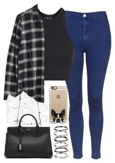 """Untitled #890"" by elly98 ❤ liked on Polyvore featuring Topshop, Madewell, M.N.G, NIKE, Yves Saint Laurent and Casetify"