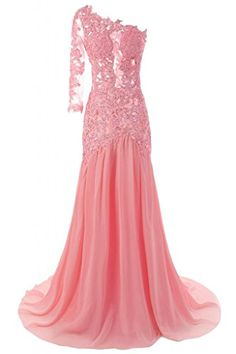JAEDEN Women's One Shoulder Sexy Mermaid Evening Prom Dress Party Gown Pink US 16W JAEDEN http://www.amazon.com/dp/B00P7QMN2U/ref=cm_sw_r_pi_dp_dNKivb09FB1W2