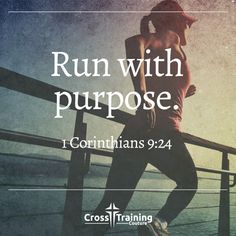 """""""I discipline my body like an athlete, training it to do what it should. Otherwise, I fear that after preaching to others I myself might be disqualified. – 1 Corinthians 9:24-27  #crosstrainingdevo""""  Excerpt From: Michelle Myers. """"Cross Training Devos, Volume One."""" iBooks. https://itun.es/us/32Lo7.l"""