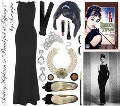 "Costume Audrey Hepburn in ""Breakfast at Tiffany's""."