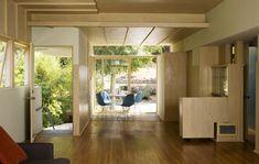 Interior of one of Rudolph Schindler's exquisite Bubeshko apartments, Los Angeles, CA.
