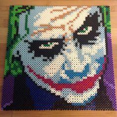 The Joker (Heath Ledger) perler beads by caseylcarr