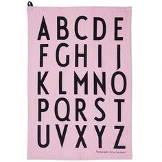 Design Letters' Arne Jacobsen tea towel, rose, 2 pcs