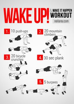 wake up workout Visual Workout Guides for Full Bodyweight, No Equipment Training