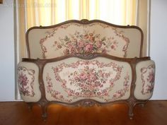 ~ Louis XV Style French Demi-corbeille Double Bed ~ antiques-atlas.com