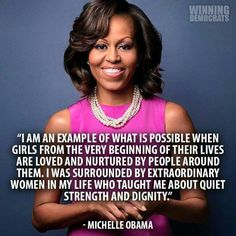Beautiful girl! Mrs. Michelle Obama the First Lady of United States!