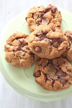 Chickpea Cookies - gluten free cookies made from chickpeas and peanut butter, with a melting Nutella centre.