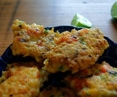 Shrimp and Coconut Fritters Recipe | Paleo inspired, real food