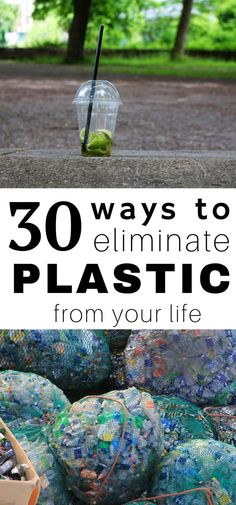 Plastic has found its place and taken over! In an effort to live more green, more sustainable, and thoughtfully, here are 30 ways to eliminate plastic from your life!!