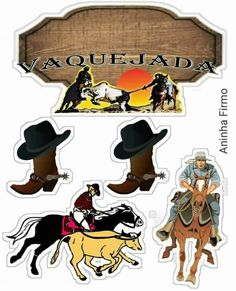 Cowgirl Party, Cowboy And Cowgirl, Bolo Do Paw Patrol, Gaucho, Cake Toppers, Diy And Crafts, Clip Art, Country, Disney Characters