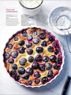Cherry and vanilla clafoutis - Country Living Magazine UK Baking Recipes, Dessert Recipes, Desserts, Clafoutis Recipes, Cherry Clafoutis, Brunch, Cherry Recipes, Cupcakes, The Best