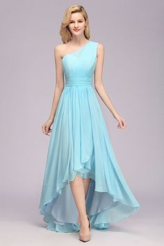Chic Hi-Lo One Shoulder Ruffle Affordable Bridesmaid Dress Cheap Looking for a gracefull blue one shoulder bridesmaid dresses? Bmbridal custom made you multiple affordable bridesmaid dress with 50 colors. Ruffles Bridesmaid Dresses, One Shoulder Bridesmaid Dresses, Affordable Bridesmaid Dresses, Bridesmaid Dresses Online, Lace Bridesmaid Dresses, Wedding Party Dresses, Chiffon Dresses, Prom Dresses, Formal Dresses