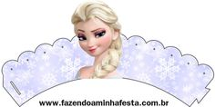 Wrapper Cupcakes Frozen Elsa
