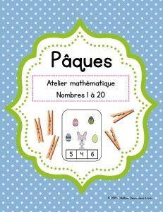 Atelier mathématique (jeu) – Pâques Easter Worksheets, Easter Activities, Kindergarten Activities, Montessori Math, Easter Art, Easter Crafts, Math Centers, Prints, Avril