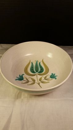 Franciscan Tulip Time Soup Cereal Bowl by ShellysSelectSalvage
